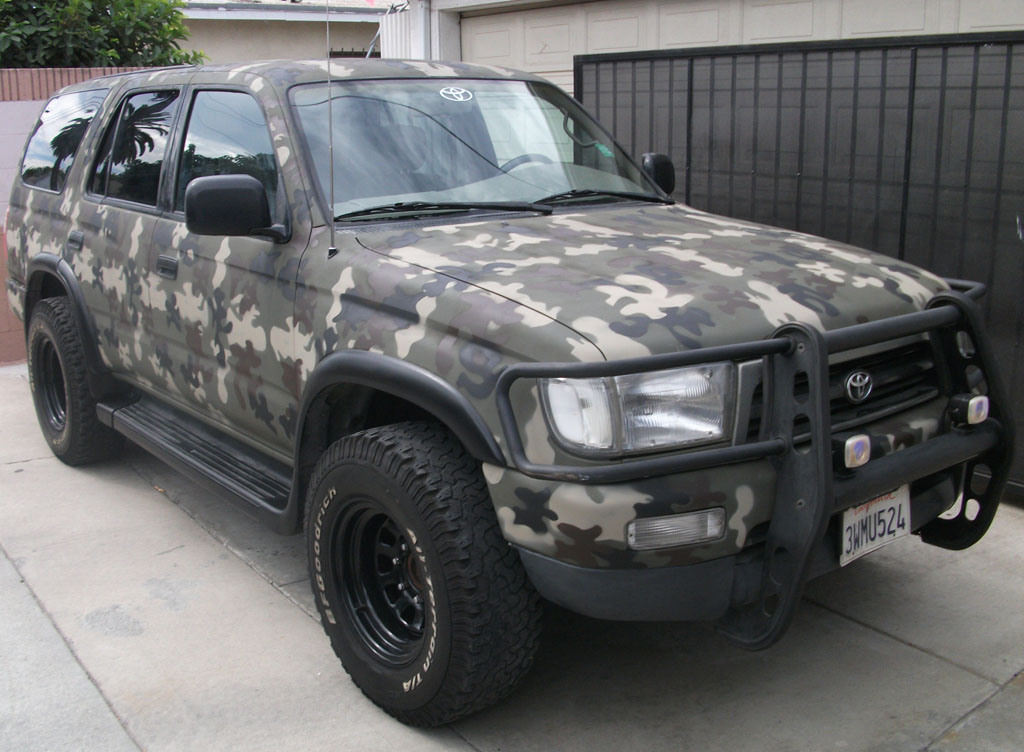stevo 39 s 1997 4runner camouflage paint job procedurebelow. Black Bedroom Furniture Sets. Home Design Ideas