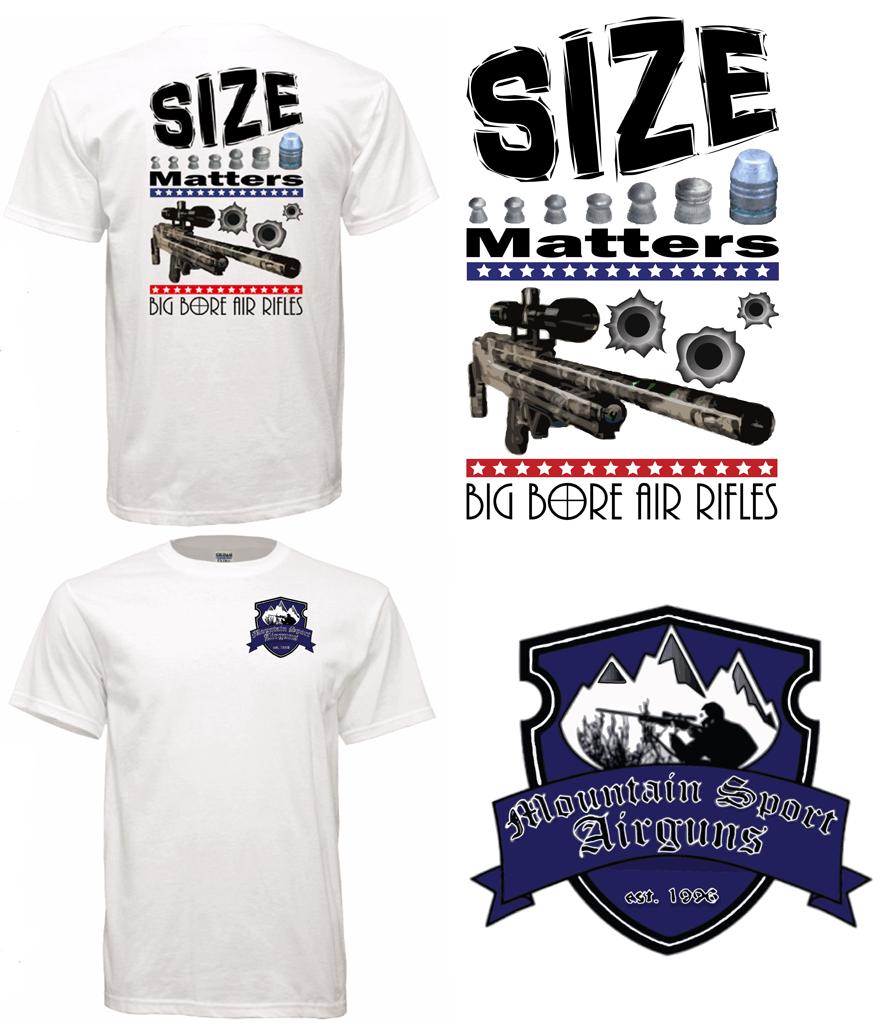 T Shirt Size Matters Big Bore Air Rifles Dream Graphic