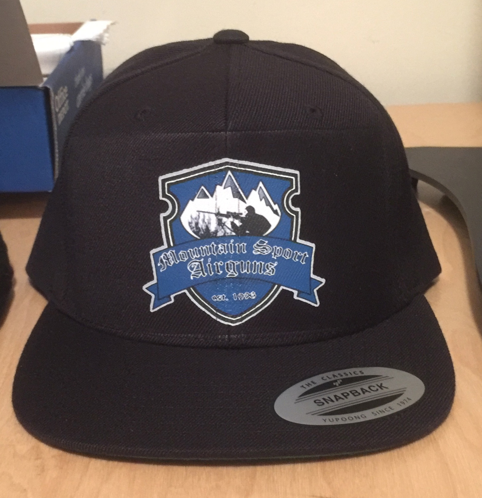 Mountain sport airguns cap black dream graphic designs for Custom t shirts and hats