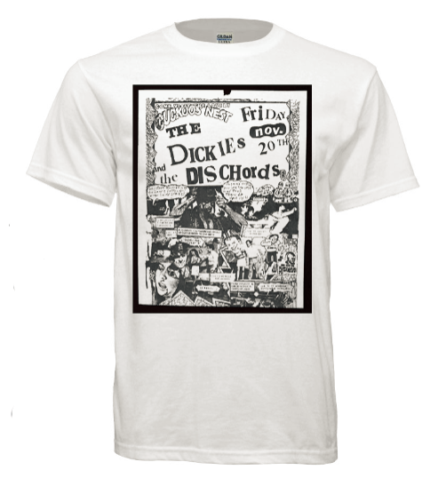 609e8af3c T-shirt The Dickies and The Dischords Cuckoos Nest Old Punk Concert Flyer  Tshirt (free shipping) | Dream Graphic Designs