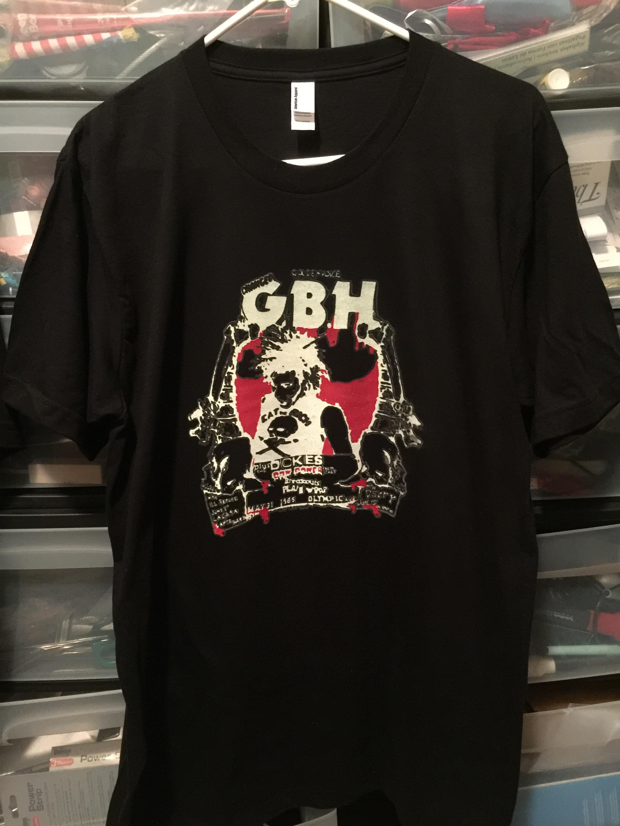 dcf3cb30b Old Punk Rock Concert T shirt GBH Dickies Olympic Auditorium Tshirt Black (free  shipping)